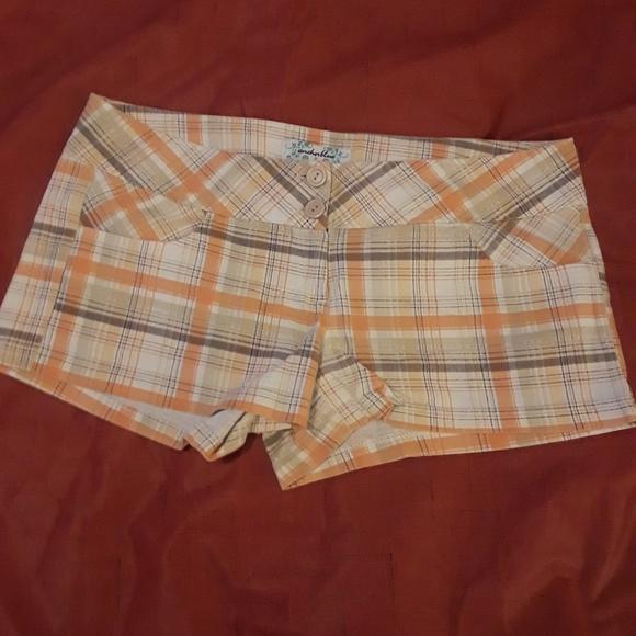 anchor blue Pants - Anchor Blue Women's Plaid Shorts